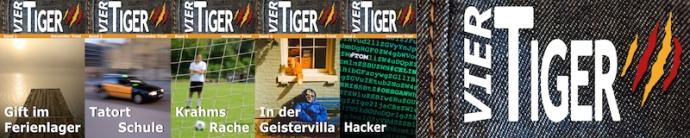 Vier Tiger Werbebanner